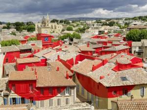 «Double disque évidé par les toits» Salon de Provence 20